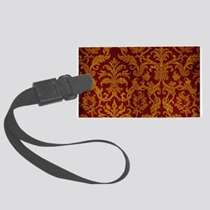 ROYAL RED AND GOLD Large Luggage Tag