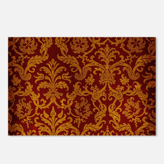 ROYAL RED AND GOLD Postcards (Package of 8)