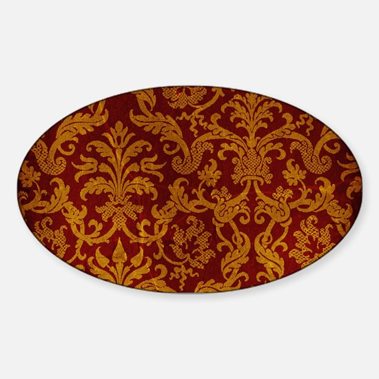 ROYAL RED AND GOLD Sticker (Oval)