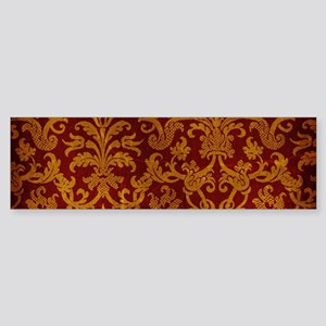 ROYAL RED AND GOLD Sticker (Bumper)