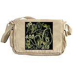 Green 420 Graffiti Collage Messenger Bag