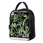Green 420 Graffiti Collage Neoprene Lunch Bag