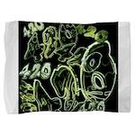 Green 420 Graffiti Collage Pillow Sham