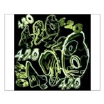 Green 420 Graffiti Collage Posters