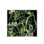 Green 420 Graffiti Collage Postcards (Package of 8