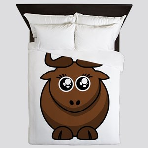 Female Cartoon Gnu Queen Duvet