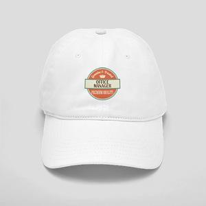 office manager vintage logo Cap