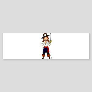 Pirate girl Bumper Sticker