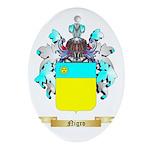 Nigro Oval Ornament