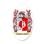 Nightingall Oval Car Magnet
