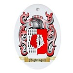 Nightingall Oval Ornament