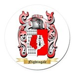Nightingale Round Car Magnet