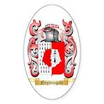 Nightingale Sticker (Oval 50 pk)
