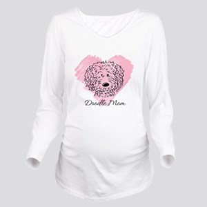 KiniArt Doodle Mom Long Sleeve Maternity T-Shirt