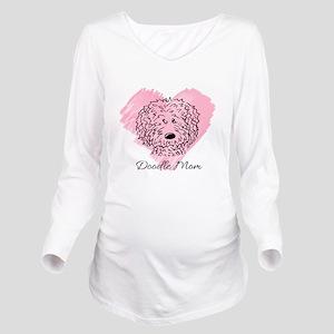 KiniArt Doodle Mom Long Sleeve Maternity T-Shirt