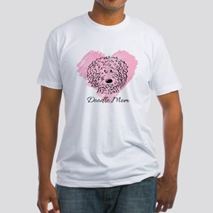KiniArt Doodle Mom Fitted T-Shirt