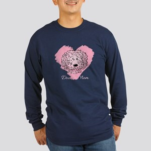 KiniArt Doodle Mom Long Sleeve Dark T-Shirt