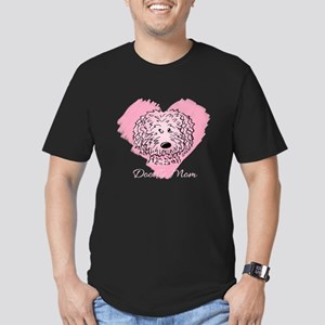 KiniArt Doodle Mom Men's Fitted T-Shirt (dark)