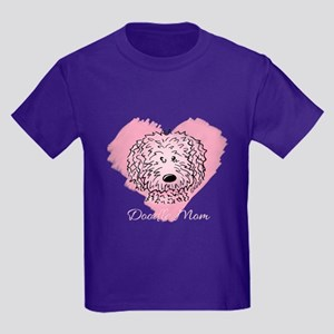 KiniArt Doodle Mom Kids Dark T-Shirt
