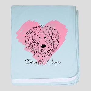 KiniArt Doodle Mom baby blanket