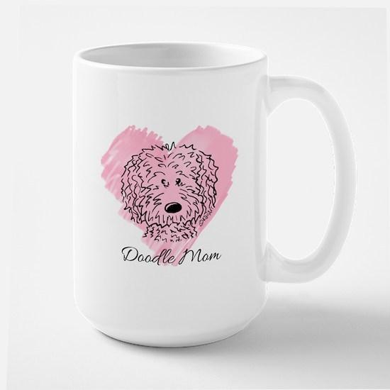 KiniArt Doodle Mom Large Mug