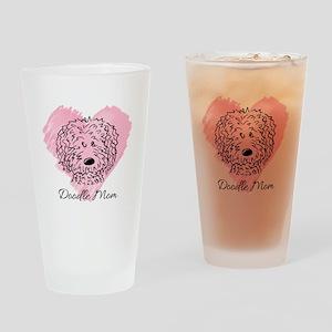 KiniArt Doodle Mom Drinking Glass
