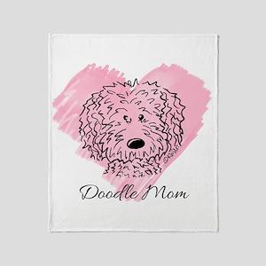 KiniArt Doodle Mom Throw Blanket