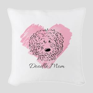 KiniArt Doodle Mom Woven Throw Pillow