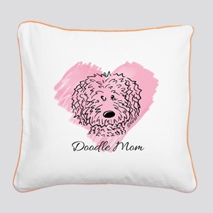 KiniArt Doodle Mom Square Canvas Pillow