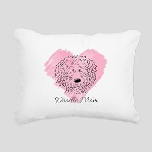 KiniArt Doodle Mom Rectangular Canvas Pillow