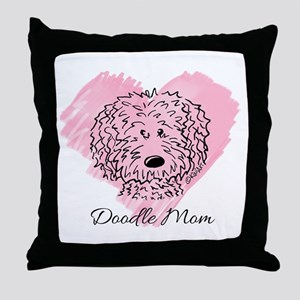 KiniArt Doodle Mom Throw Pillow
