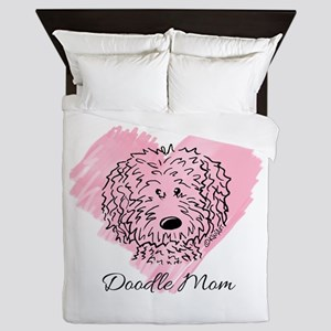 KiniArt Doodle Mom Queen Duvet