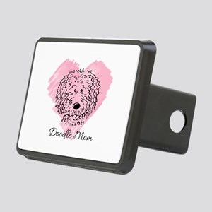 KiniArt Doodle Mom Rectangular Hitch Cover