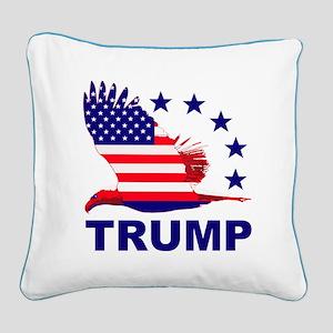 Trump For America Square Canvas Pillow