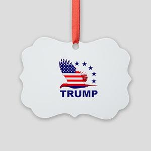 Trump For America Picture Ornament
