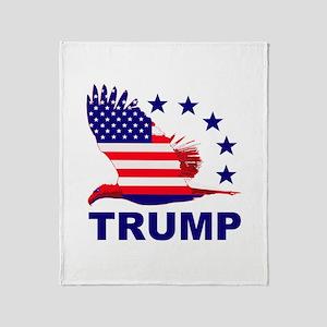 Trump For America Throw Blanket