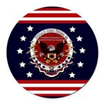 President Trump Round Car Magnet