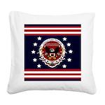 President Trump Square Canvas Pillow