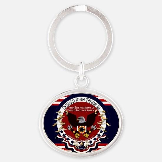 President Donald Trump Oval Keychain