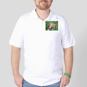 Cute Brown Rabbit Golf Shirt