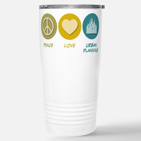 Peace Love Urban Planning Mugs