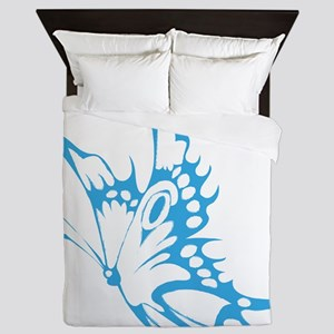 Butterfly faded hand painted Queen Duvet
