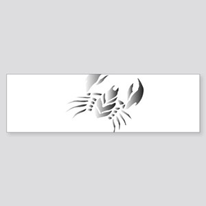 Painted Tribal Crab Bumper Sticker