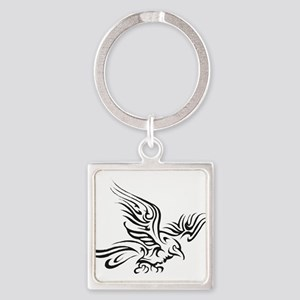Crow Tribal Painting Faded Keychains