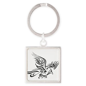 Yellow And Grey Keychains - CafePress 116cb8398
