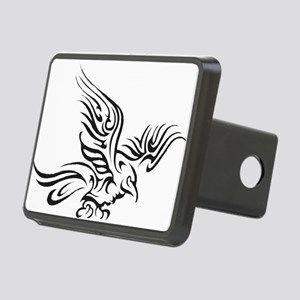 Crow Tribal Painting Faded Rectangular Hitch Cover