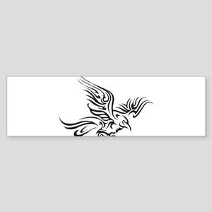 Crow Tribal Painting Faded Bumper Sticker