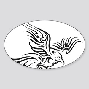 Crow Tribal Painting Faded Sticker