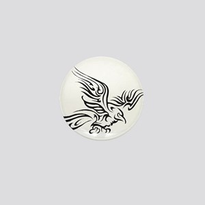 Crow Tribal Painting Faded Mini Button