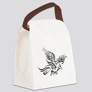 Crow Tribal Painting Faded Canvas Lunch Bag
